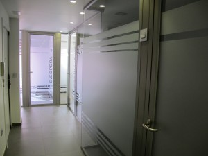 new glass and aluminium internal partitions