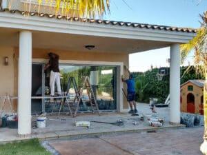 Obras de ampliación de cocina. Embellecer exterior